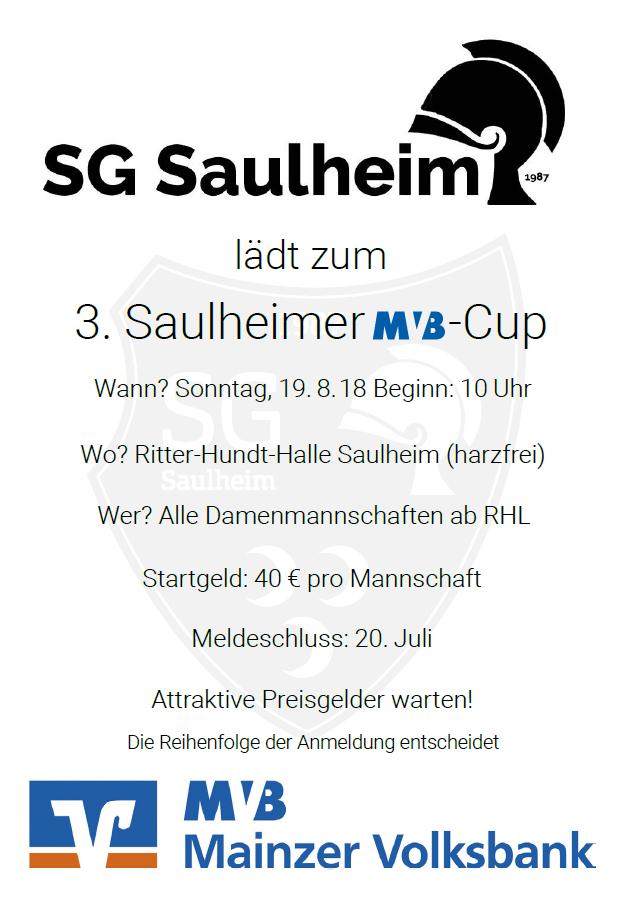 3. Saulheimer MVB Cup - nur noch Restplatz frei - Jetzt anmelden
