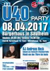 08.04.2017 - Ü40 Party in der Bürgerhaus